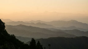 Horizons. This photo was taken by me at Patal bhubaneshwar, Uttarakhand, at dusk Stock Photos