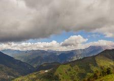 Horizont über den Anden-Bergen lizenzfreies stockbild