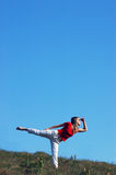 horizont κοιτάζοντας στη γυναίκ Στοκ φωτογραφία με δικαίωμα ελεύθερης χρήσης