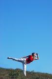 horizont смотря к женщине Стоковая Фотография RF