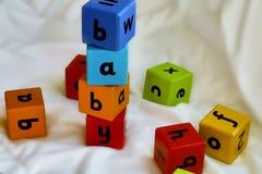 Horizont del bebé de los bloques de los niños Fotos de archivo