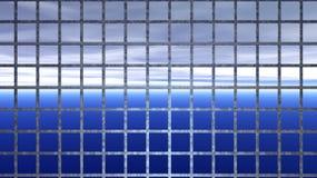 Horizont hinter Eisenstangen - abstrakte Gefangenschaft stock abbildung