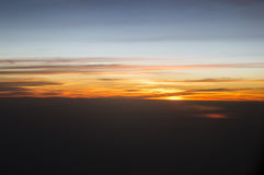 Horizont im Himmel lizenzfreie stockbilder