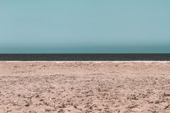 Horizont line by the Mediterranean stock photography