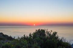Horizont-Sonnenuntergang stockbild