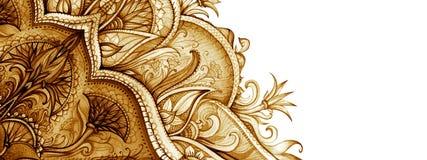 Horizontaal bannermalplaatje Uitstekende illustratie Royalty-vrije Stock Afbeelding