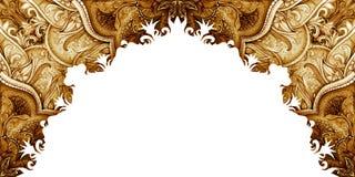 Horizontaal bannermalplaatje Uitstekende illustratie Royalty-vrije Stock Fotografie