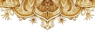 Horizontaal bannermalplaatje Uitstekende illustratie Stock Foto's