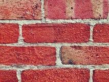 Horizontaal Beeld van Rode Bakstenen muur Dichte Omhooggaand Stock Afbeeldingen