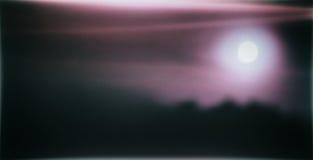 Horizontaal breed roze geweven de prentbriefkaarontwerp van de melkmaan Stock Afbeelding