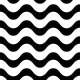 Horizontaal golvend lijnen vector naadloos patroon Stock Foto