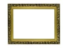 Horizontaal gouden Frame voor beeld of portret royalty-vrije stock fotografie