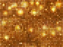 Horizontaal gouden mozaïek Stock Foto