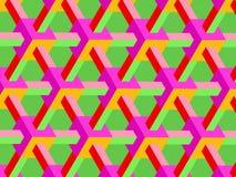 Horizontaal helder kubusrooster vector illustratie