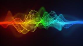 Horizontaal het georiënteerde futuristische vorm abstracte 3D teruggeven vector illustratie