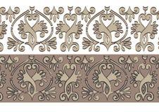 Horizontaal historisch ornament Stock Afbeelding