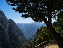 Horizontaal levendig de bergenlandschap van de zomergriekenland Stock Fotografie