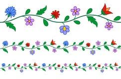 Horizontaal naadloos Hongaars borduurwerkpatroon stock illustratie