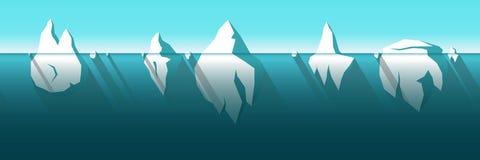 Horizontaal naadloze ijsberg Royalty-vrije Stock Fotografie