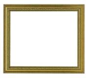 Horizontaal oud gouden frame Royalty-vrije Stock Fotografie