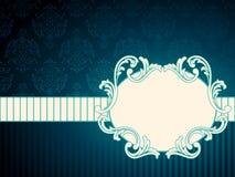 Horizontaal ovaal uitstekend rococo etiket stock illustratie