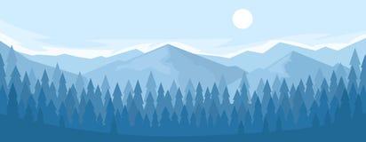 Horizontaal panorama van de bergketen royalty-vrije illustratie