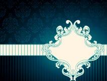 Horizontaal uitstekend rococo etiket royalty-vrije illustratie