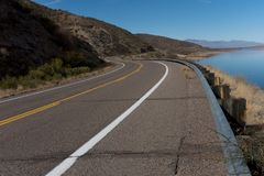 Horizontaal van weg 188 van Arizona Royalty-vrije Stock Afbeelding