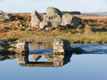 Horizontal à un lac en Irlande Photos libres de droits