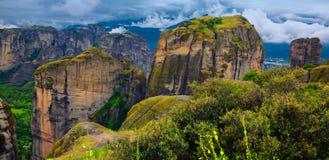 Horizontal étonnant chez Meteora Photos libres de droits