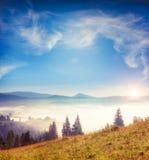 Horizontal étonnant de montagne image libre de droits