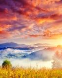 Horizontal étonnant de montagne photo libre de droits