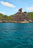 Horizontal, îles de Similan Photographie stock