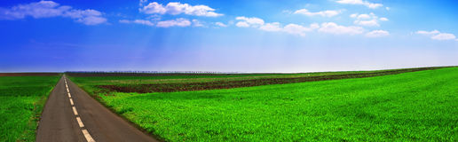 Horizontal 4 panoramiques Photographie stock