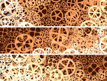 Horizontal abstract banners of gear wheels. Royalty Free Stock Photos