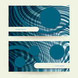 Horizontal abstract blue ellipse Stock Images