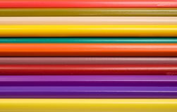 Abstract Color Crayons Viewed up Close. Horizontal Abstract Color Crayons Viewed up Close Royalty Free Stock Photos