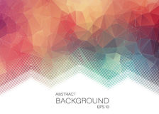 Horizontal Abstract 2D geometric colorful background. For web design Vector Illustration