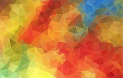 Horizontal Abstract 2D geometric colorful background. For web design Royalty Free Illustration