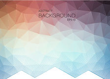 Horizontal Abstract geometric colorful background Royalty Free Stock Photography