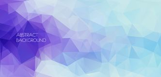 Horizontal abstract polygonal banner. Vector Background Royalty Free Stock Image