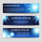 Horizontal abstract web banners set Royalty Free Stock Images