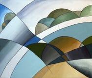 Horizontal abstrait illustration stock