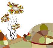Horizontal abstrait avec des fleurs illustration de vecteur