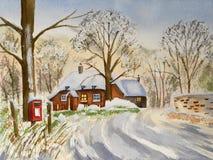 Horizontal abstrait de l'hiver illustration de vecteur