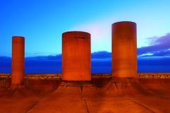 Horizontal abstrait industriel Images libres de droits
