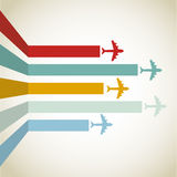 Horizontal Aircraft line Royalty Free Stock Photo