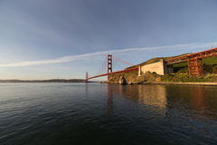 Horizontal airy image of Golden Gate in soft morning light. San Royalty Free Stock Photos