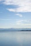 Horizontal alpestre avec le lac Starnberger Image stock