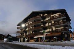 Horizontal alpestre de l'hiver Photos stock